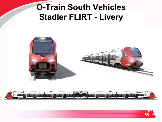 Ottawa LRT Line 2 Stage 2 O-Train South Stadler FLIRT vehicle livery