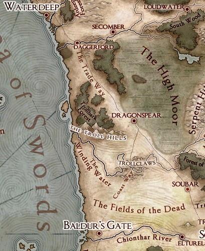 The Sword Coast from Baldur's Gate to Waterdeep
