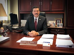 Minority Leader Testa in his office