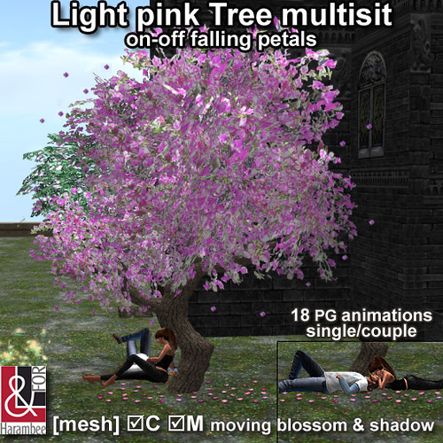 Light pink tree multisit