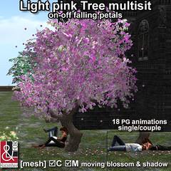 Light pink tree multisit
