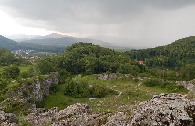 Above two limestone quarries