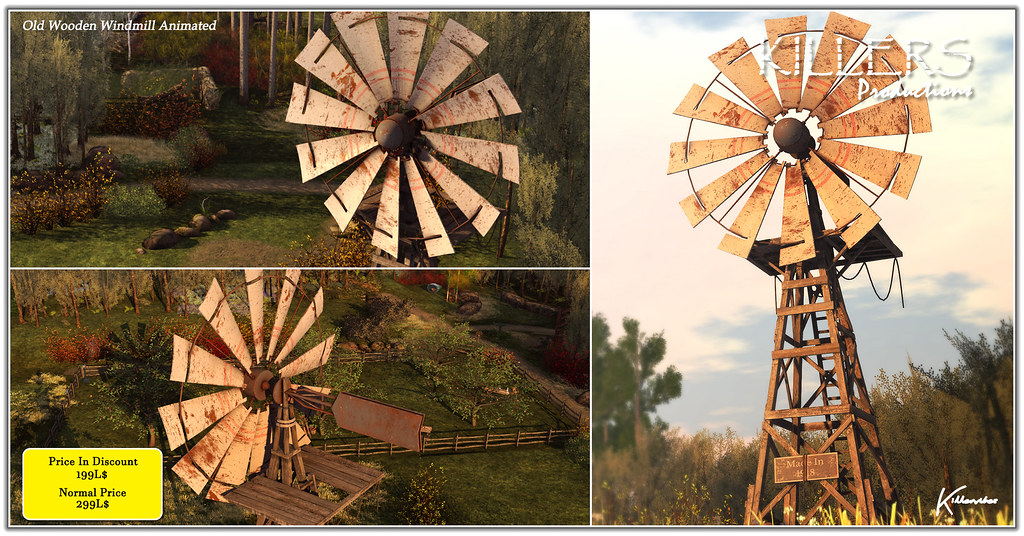 """Killer's"" Old Wooden Windmill On Discount @ Equal10 Starts 10th May Till 5th June"