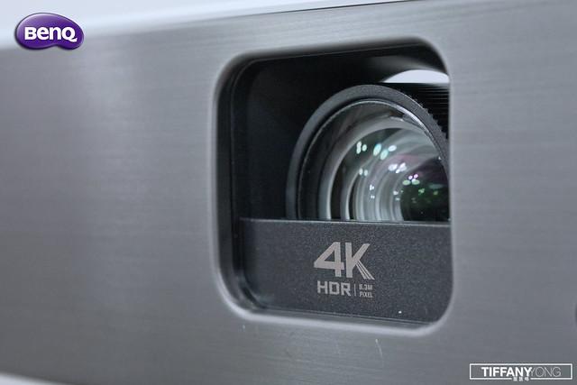 BenQ w2700 lens closeup
