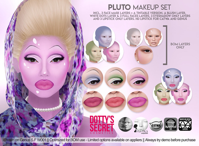 Dotty's Secret - Pluto - Makeup Set