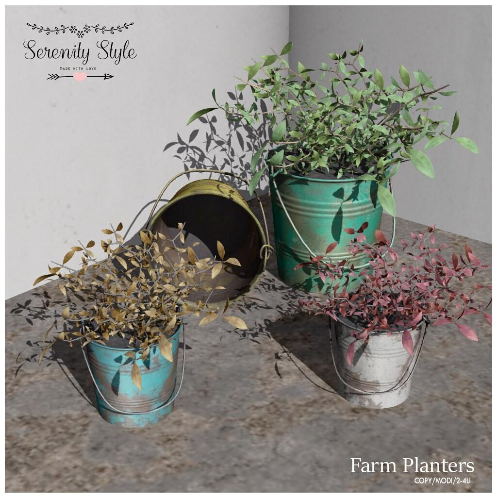 Serenity Style- Farm Planters