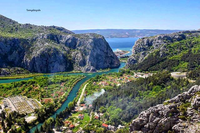 View to Omiš , Croatia