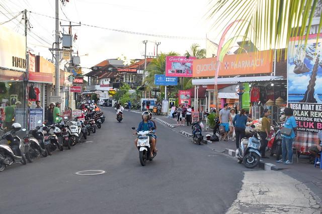Streets of Seminyak, Bali, Indonesia.