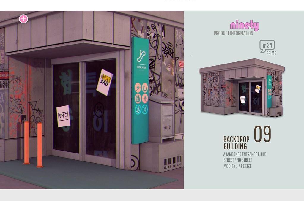 # ninety – 09 Building / Backdrop  KUSTOM9