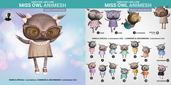 SEmotion Libellune Miss Owl Animesh