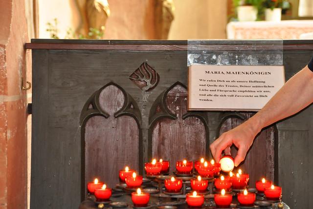 Mai 2020 ... Die Ersheimer Kapelle ... Brigitte Stolle
