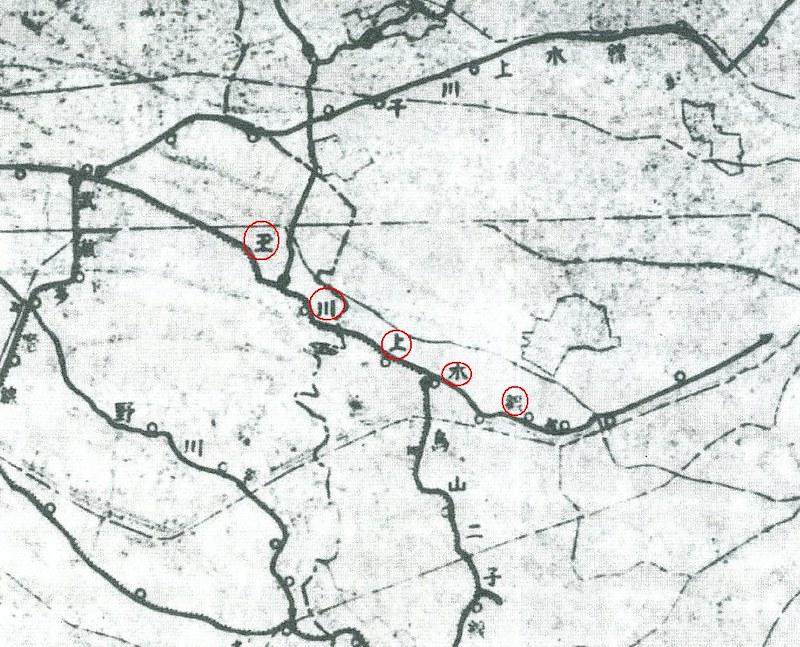 東京保健道路計画図2玉川上水線