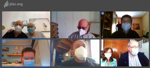 Mascarillas obligatorias en espacios públicos, pero la Junta de @NagusiakBizkaia da ejemplo hasta en las videoconferencias,...