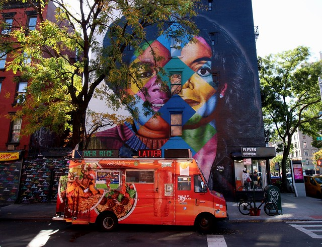 "USA - NYC - Manhattan - East Village -Street Art - Kobra - ""Black or White"""