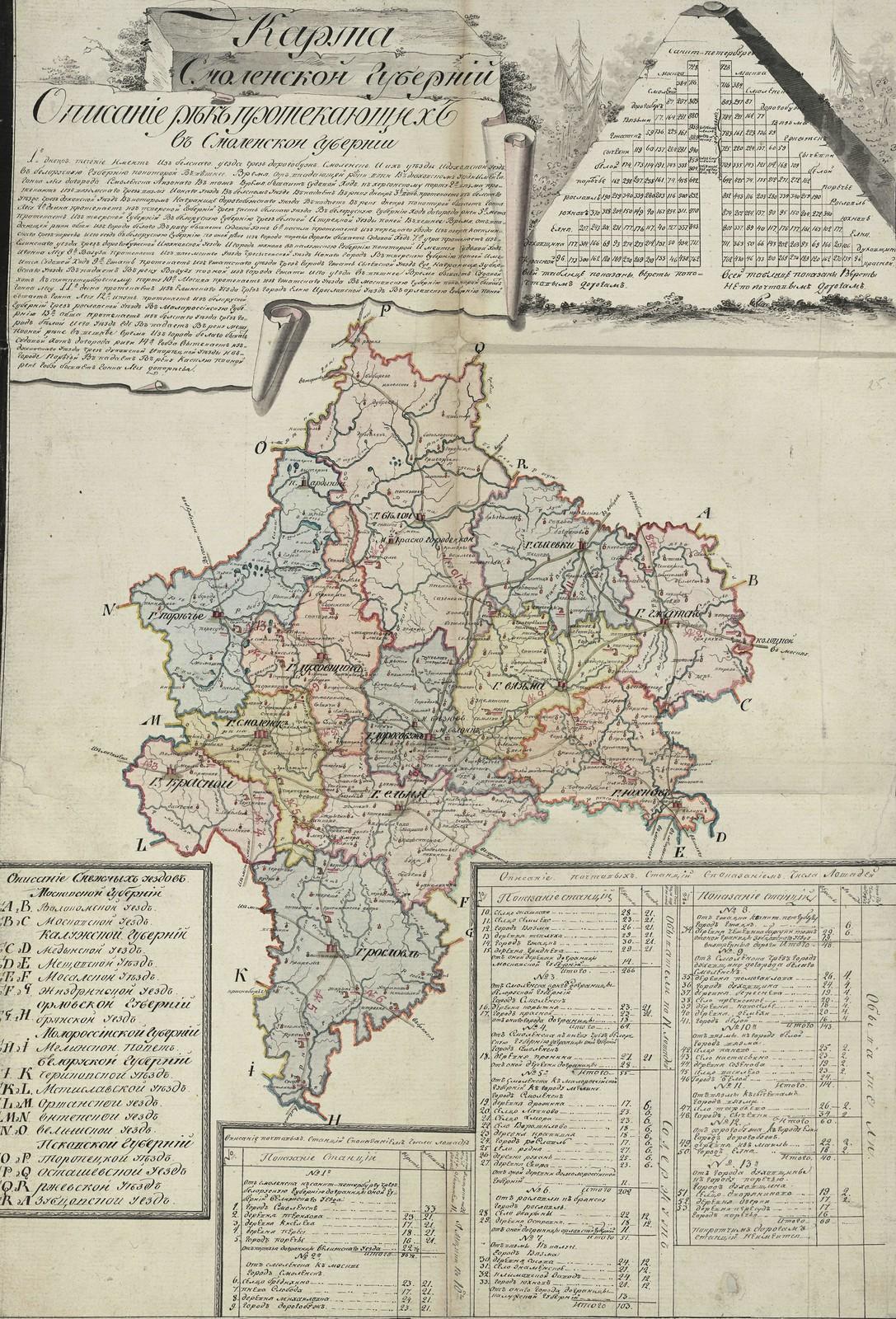 25. Карта Смоленской губернии