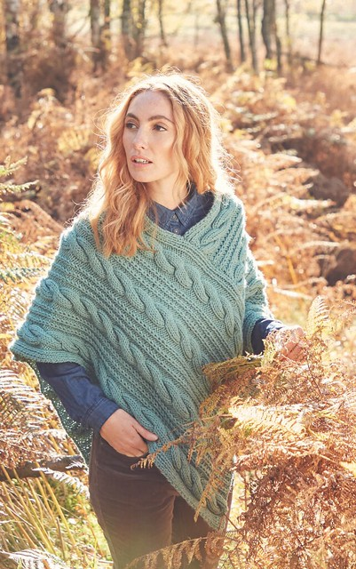 3. The third available for drop-ship is this Hayfield Bonus Chunky Poncho Kit for $41.50 CAD plus $8.95 flat rate shipping to you. Kit includes six (100g/150 yard) balls of Bonus Chunky and the printed pattern.