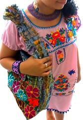 Algodon de Azucar Mexican Embroidered Bag