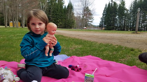 picnicing with the baby