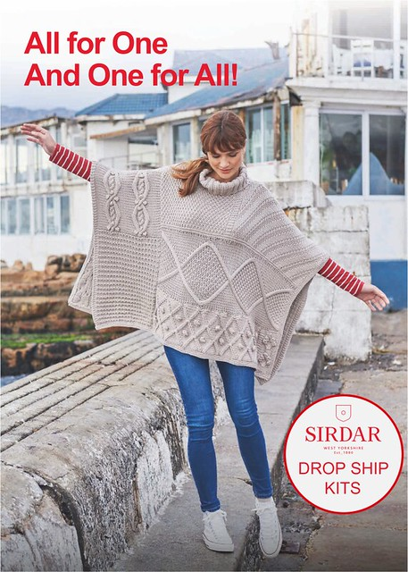 Sirdar No. 1  Chunky Poncho Kit is available for drop-ship for $135.00 CAD plus $8.95 flat rate shipping to you.