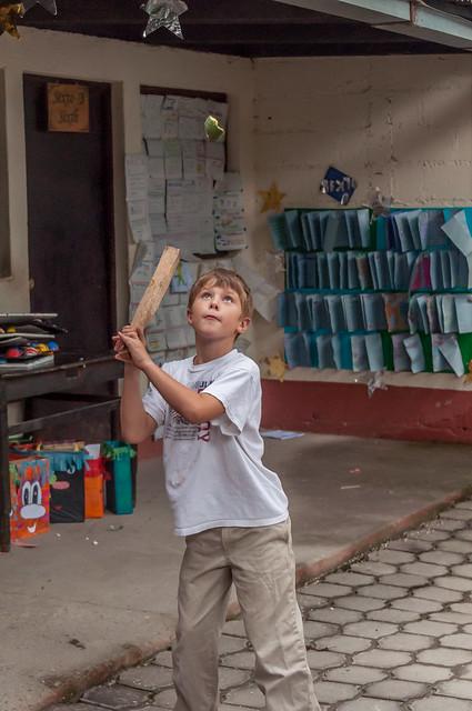 makeshift bat and ball