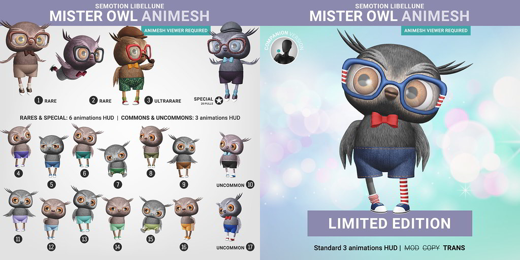 SEmotion Libellune Mister Owl Animesh