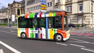 Luxembourg Multiplicity bus system, shopping bus