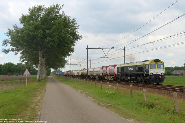 Railtraxx 266 001 - Roosendaal 15-05-2020.