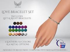 [Ari-Pari] Love Bracelets Set