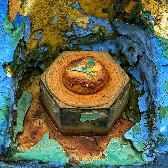 Wabi-sabi fire hydrant macro...iPhone
