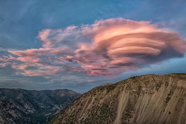 Rosy Lenticular Cloud