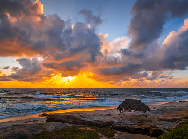 Windandsea Beach Fine Art Seascape Ocean Art San Diego La Jolla Sunset Brillant Red Orange Yellow Clouds! Fujifilm Fujinon Gf 23mm F/4 R Lm Wr Lens for GFX Medium Format! Dr. Elliot McGucken Fuji GFX 100 Fine Art Landscape Nature Photography!