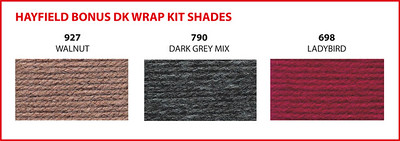 Choose one of these three shades for the Hayfield Bonus DK Wrap.
