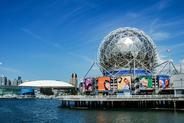 Science World on False Creek Vancouver, British Columbia, Canada