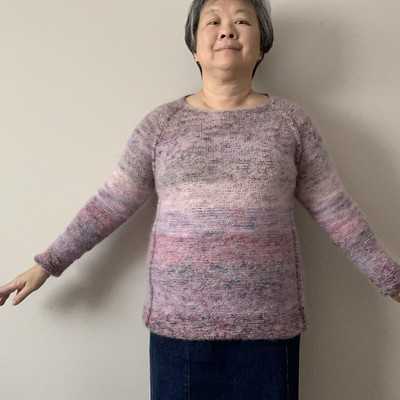 I finished my City Limits by Tanis Lavallee knit using Koigu KPPPM and Drops Kid Silk