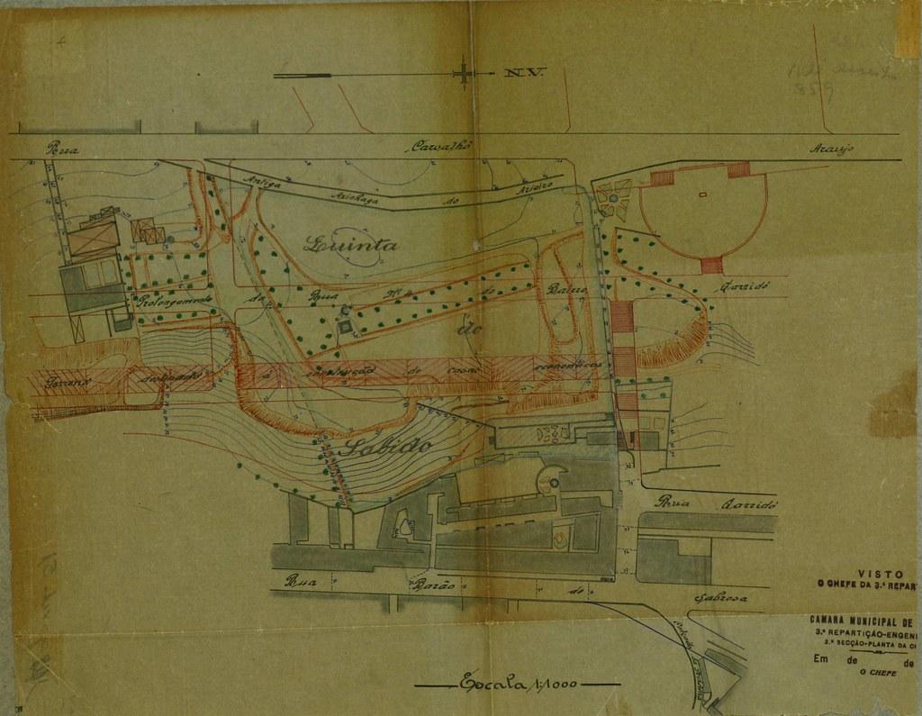 Projecto do prolongamento da rua Actor Vale através da quinta da Ladeira, 1929-41, p. 61. PT/AMLSB/CMLSBAH/PURB/002/03835