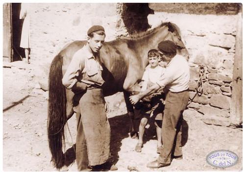 1955 - Ferreiro y ferrador en Ambasaguas