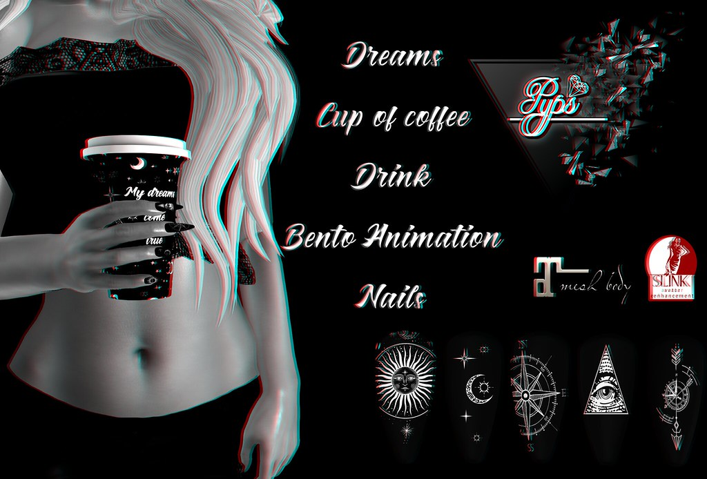 .::Pyps::. Dreams Cup of coffee and nails (Maitreya Slink)