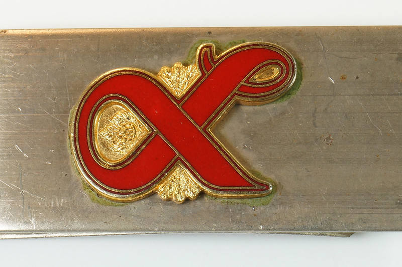RD27307 Vintage Lucky Lager Money Clip Beer Advertising Collectible DSC04484