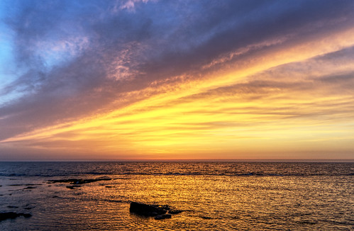mediterranean sea coast acre israel sunset hdr single raw singleraw