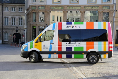 Luxumbourg Multiplicity bus system, Call a Bus transit van