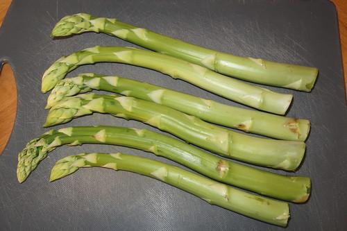 Grüner Spargel (250g) als Zutat für Frittata
