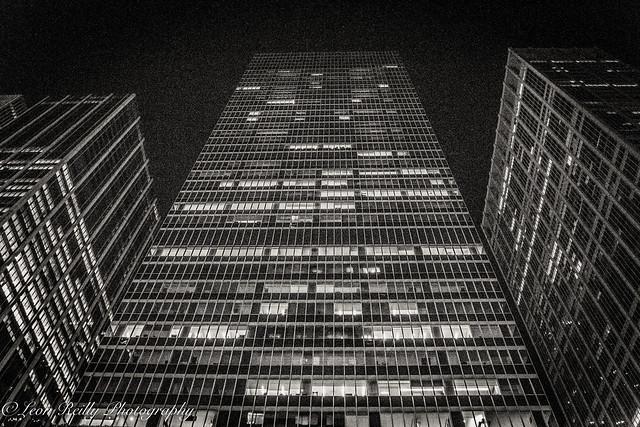 6th Avenue Skyscrapers at night