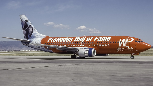 N375TA_COS_Ramp_W7_B737_3S3_Pro_Rodeo_Hall_Of_Fame