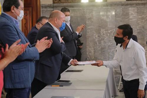 15 May 2020 . El Gobernador del Estado, Enrique Alfaro, encabeza el Homenaje Solemne al Mérito Docente 2020