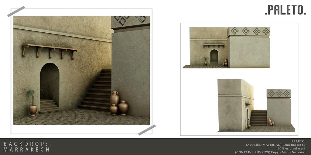 .PALETO. Backdrop:. Marrakech