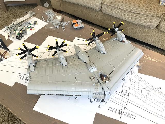LEGO XB-35 WIP