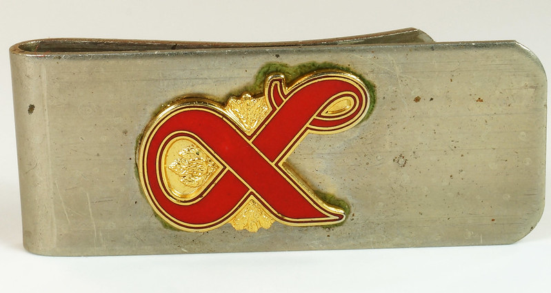 RD27307 Vintage Lucky Lager Money Clip Beer Advertising Collectible DSC04486