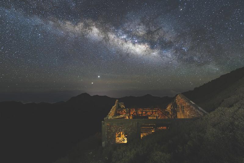 合歡山東峰 廢棄纜車站銀河
