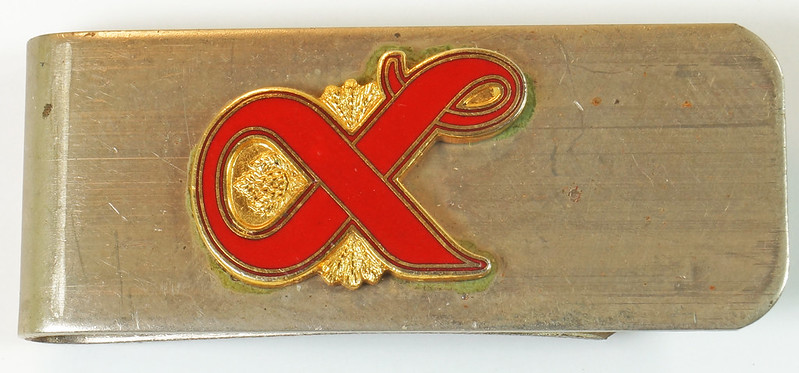 RD27307 Vintage Lucky Lager Money Clip Beer Advertising Collectible DSC04483