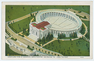 1931-Postcard-Aeroplane View of Memorial Amphiteathre, Arlington, VA., from the east | by Old Guard History